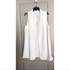 Women's white tuxedo vest